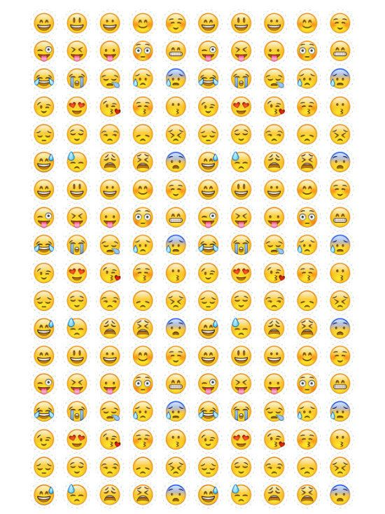 Emoji Stickers Instant Download. Print Smiley Emoticons by Nentra