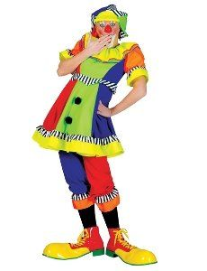 spanky stripes female clown adult costume size medium