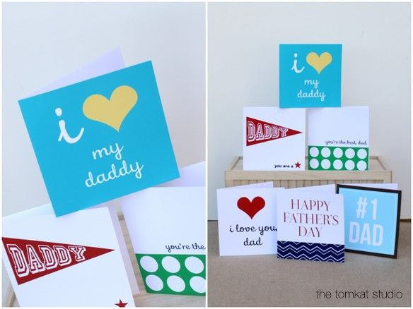 free printable father's day cards by @tomkatstudio for @hgtv!