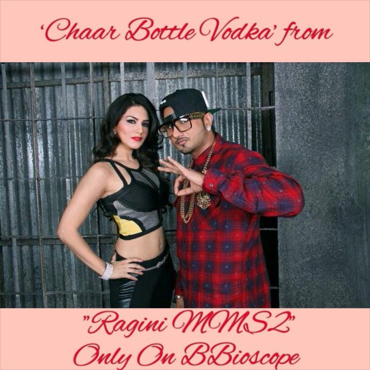 "#BBXclusivePic Checkout Exclusive Pic of Yo Yo Honey Singh n Sunny Leone. Song - 'Chaar Bottle Vodka' Film - ""Ragini MMS 2"""
