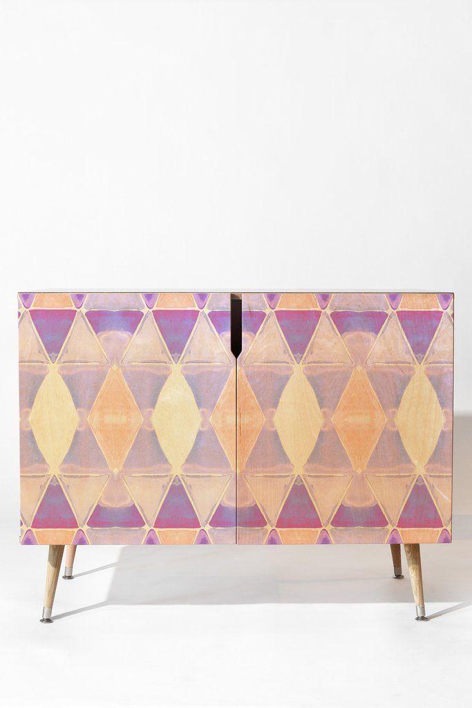 Amy Sia Art Deco Triangle Light Purple Credenza | DENY Designs Home Accessories