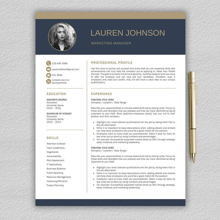 Resume Template   CV + Cover Letter by Pro.Graphic.Design on @creativemarket