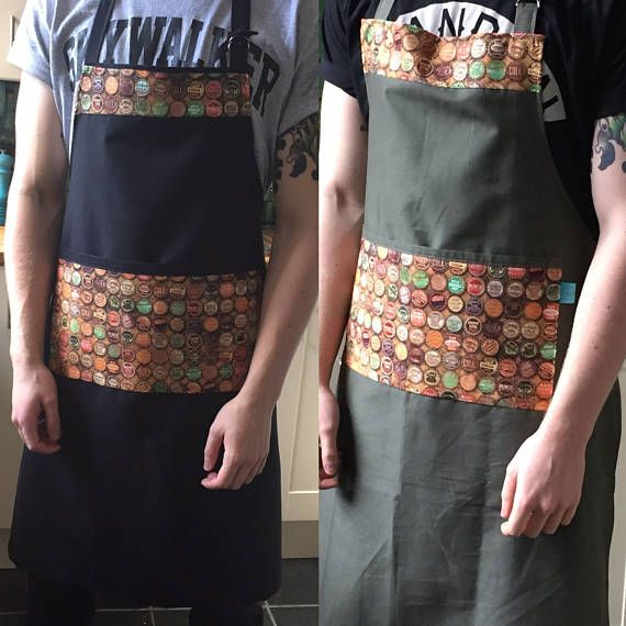 Bottle top bbq apron man's apron alternative apron man