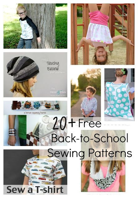 20+ FREE Back-To-School Sewing Patterns and Tutorials