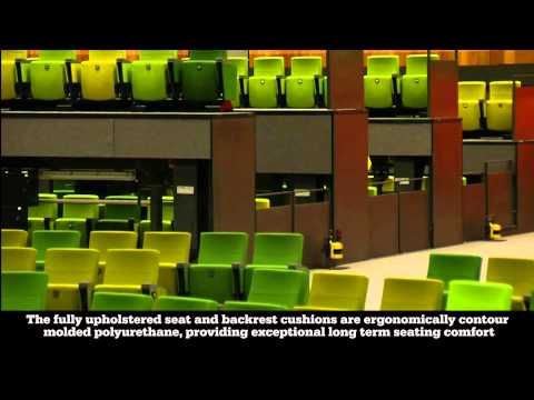 Camatic Evoke seat at the Melbourne Convention Centre - YouTube