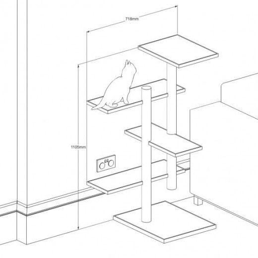 Best 25 Homemade Cat Tower Ideas On Pinterest Diy Cat