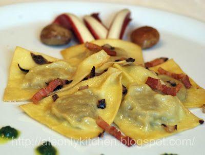 Ravioli di castagne e radicchio di Treviso
