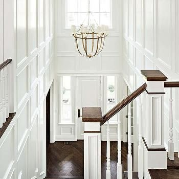 Two Story Foyer with Lancaster Chandelier