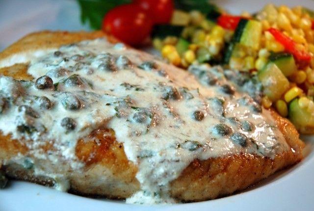 Beste Recepten met Pinot Gris - Gebakken heilbot Steak met licht groene saus