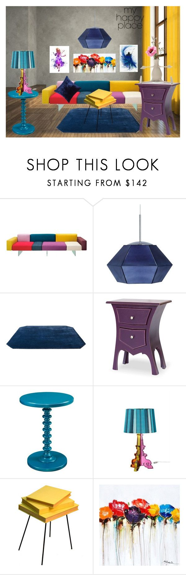 """""""Really happy place"""" by subvilli on Polyvore featuring interior, interiors, interior design, home, home decor, interior decorating, Tom Dixon, &Tradition, Kartell and Valsecchi 1918"""
