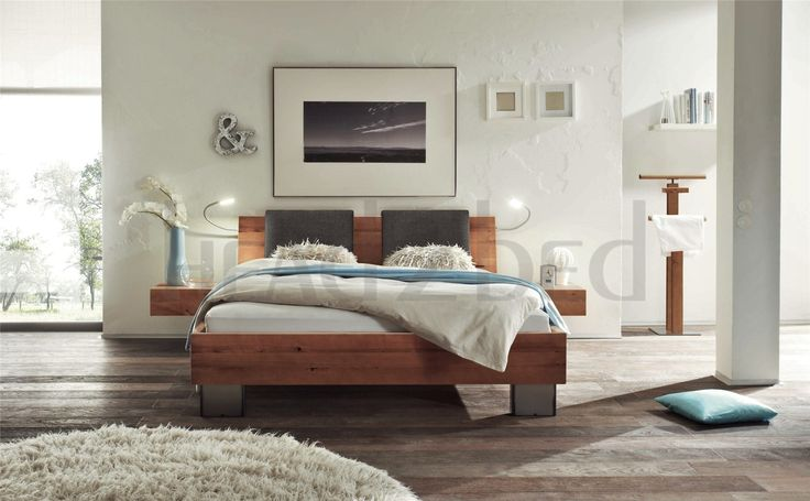 Contemporary Designer Beds » Hasena Quada Sion - Rustic Solid Beech Bed » Hasena Quada Sion - Rustic Solid Beech Bed - Head2Bed UK