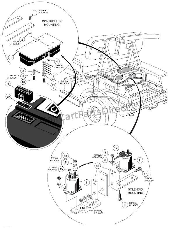 Electrical Components Rear Body Powerdrive Plus Club Car