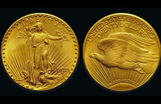 1933 Double Eagle Twenty Dollar Gold Coin