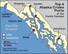 Best 4 Alaska cruise ports - by authority Howard Hillman....great site!...go deeper into site for other destinations