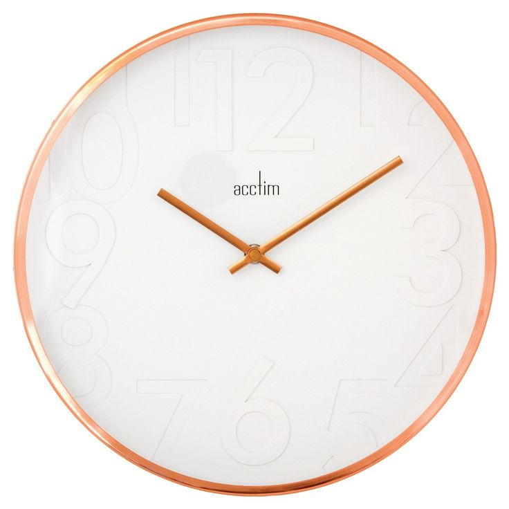 Acctim 27698 Rostock Wall Clock, Copper: Amazon.co.uk: Kitchen & Home