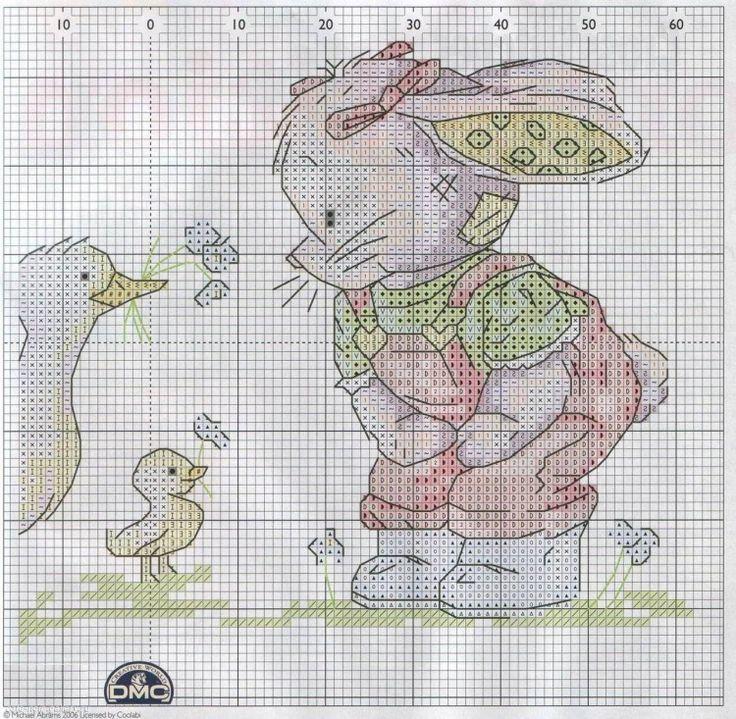 Encantador Patrones De Punto De Conejo Modelo - Manta de Tejer ...