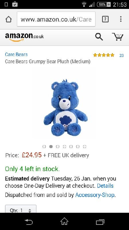 Lost on 23 Jan. 2016 @ Lowestoft, Suffolk . Grumpy bear, blue care bear with a raincloud on his belly. Has some patches of mud on him. Visit: https://whiteboomerang.com/lostteddy/msg/hf91jj (Posted by Donna on 23 Jan. 2016)