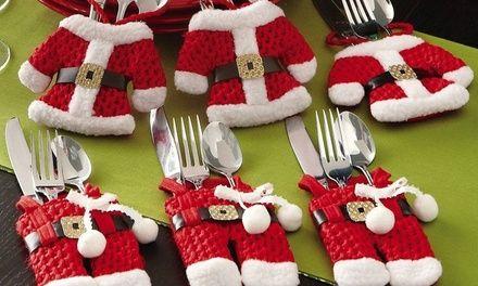 Ces porte-couverts Père Noël ont été conçus pour préparer une belle table de Noël