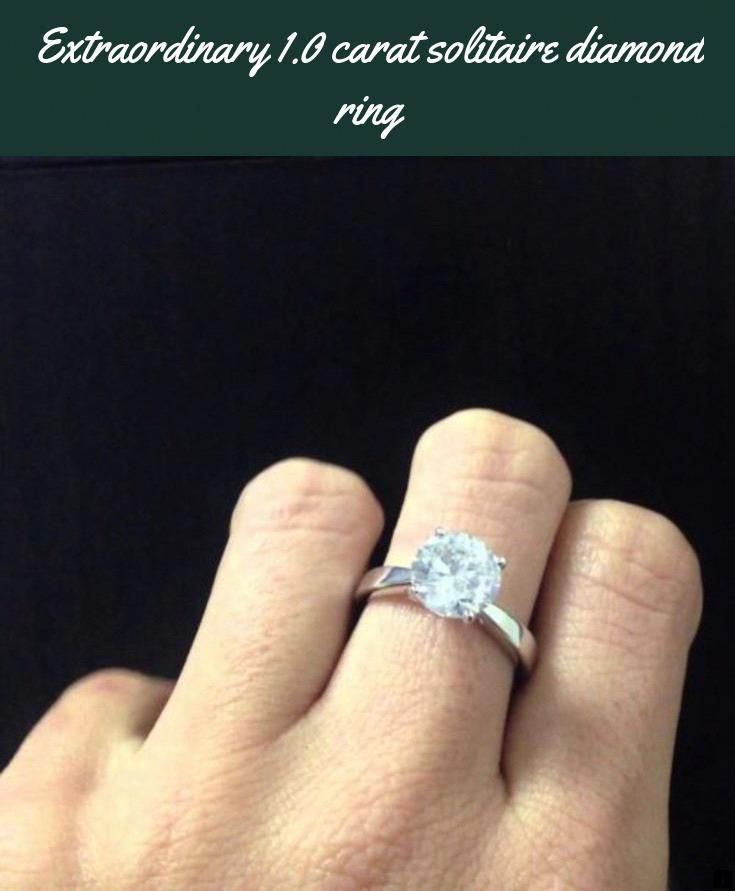 Find Out About 1 0 Carat Solitaire Diamond Ring Just Click On The Link For More Viewing The Website Is Worth Your Ti Diamond Solitaire Diamond Rings Cool