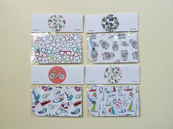These Illustrated Pattern Gift Tags are designed and illustrated by Rachel Ali Hawkins. Great Gift Tags to make any present a little more exciting.