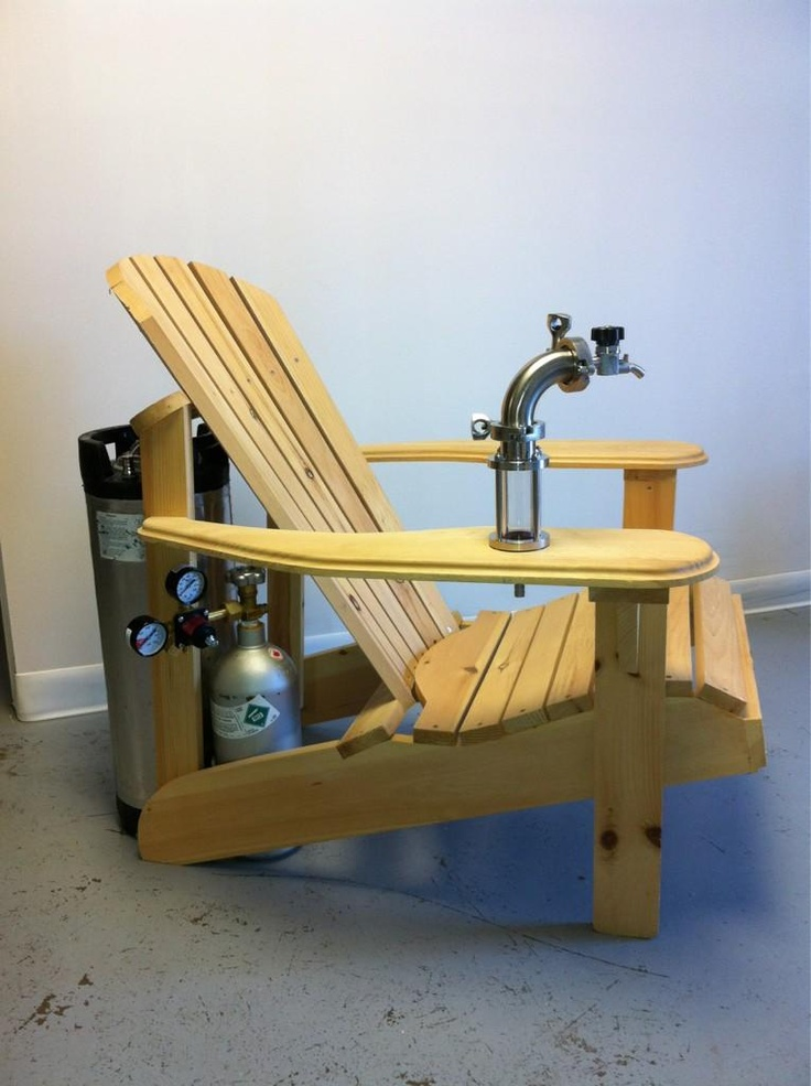 Muskoka Adirondack Chair With A Keg Tap I Could See My