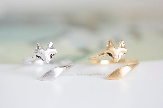 fox  ring/unique ring/adjustable ring/animal door LETTERSEARRING, $8.80