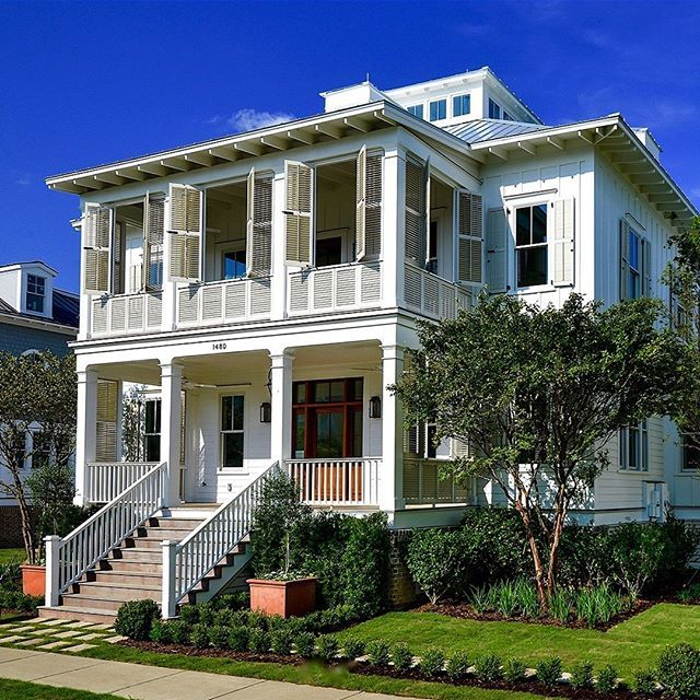 90 best coastal home southern images on pinterest my for Charleston style homes