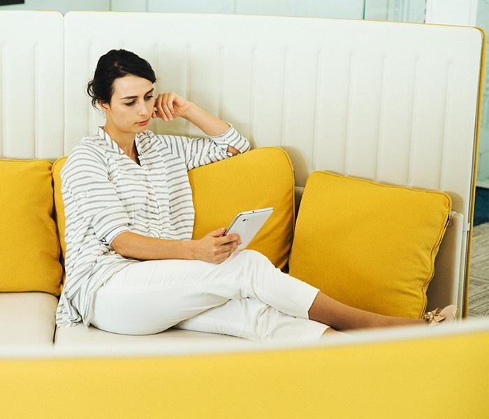 Muffle Lounge | UCI Acoustic Modular Workplace Furniture by Okamura in Japan. uci.com.au