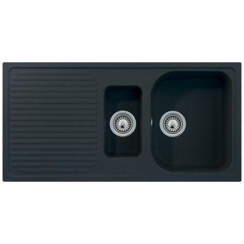 Schock Lithos D150 1.5 Bowl Granite Onyx Black Kitchen Sink & Waste