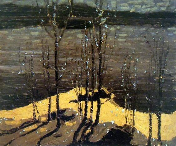 Tom Thomson | Moonlight and Birches | 1915