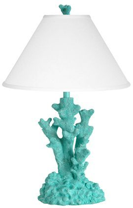 teal coral lamp for Ocean Nursery…k, I bet we could make one…hey! A trip to …