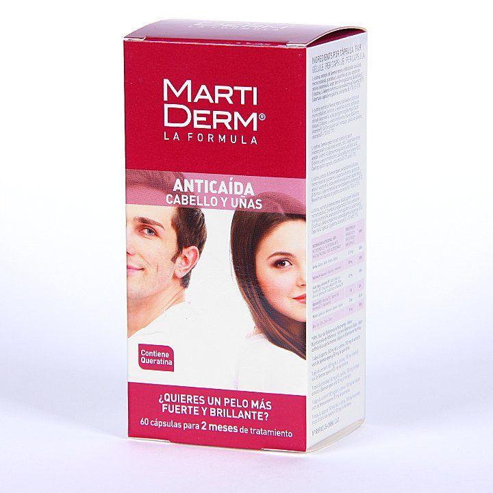 Farmacia Jiménez | Martiderm Anticaída Cabello y Uñas 60 cápsulas