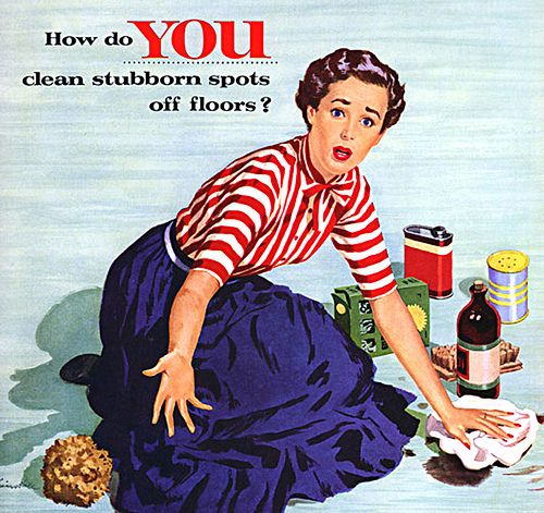 Image result for house cleaning vintage