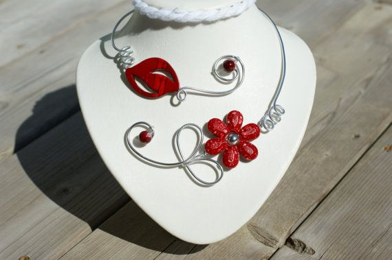 RED HOLIDAY GIFT GUIDE *** RED CHRISTMAS ORNEMENTS par BIJOUX LIBELLULE sur Etsy