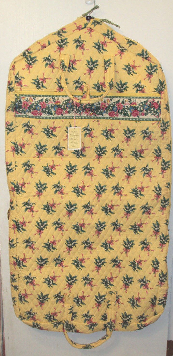 Vera Bradley Garment Bag Hope Yellow Pattern Retired New with Tags | eBay