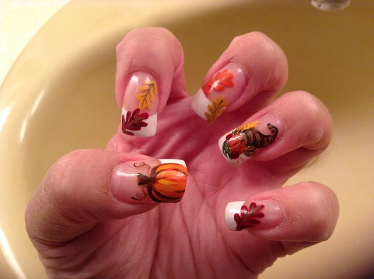 82 best Fall/ Thanksgiving Nails images on Pinterest | Nail scissors ...