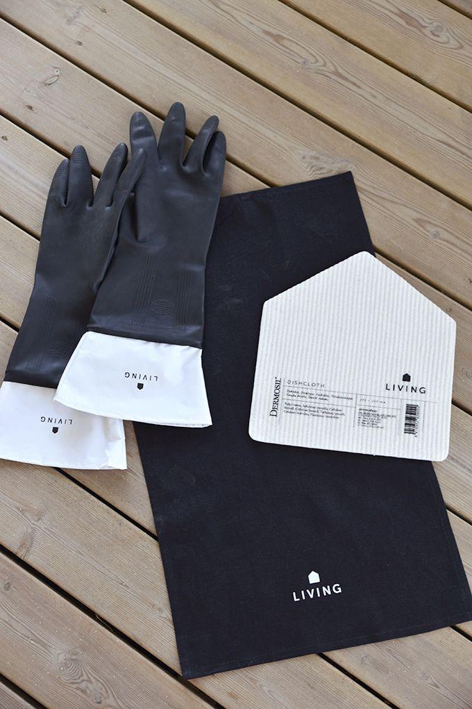 Dermosil Living dishwashing gloves and dishcloth