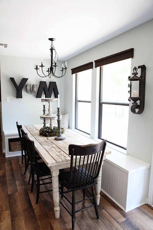 Kitchen With Built In Bench Seating Love The Big Letters Spelling YUM Thinking Something Like This Would Work My Dining Area