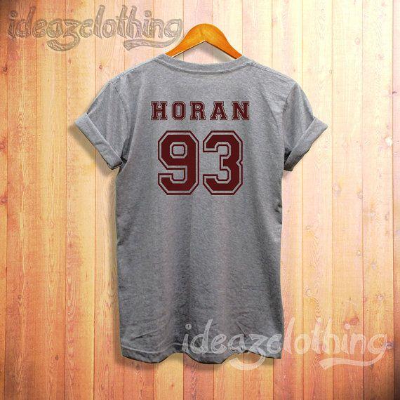 One direction shirt Niall Horan shirt horan 93 tshirt sport grey t9