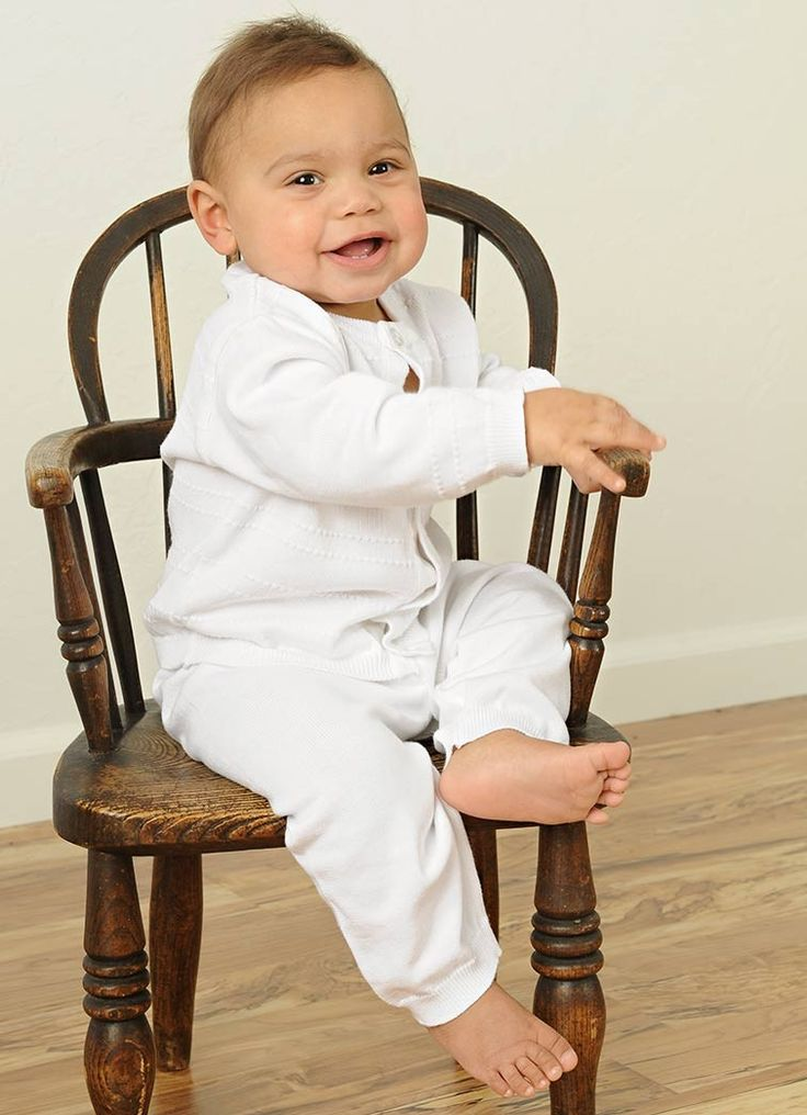 Aiden Knit Christening Outfits for Boys