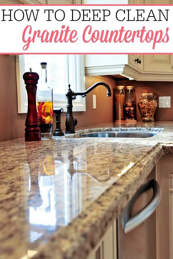 How To Deep Clean Granite Countertops Home Garden Diy In 2020 Cleaning Granite Countertops How To Clean Granite Granite Countertops