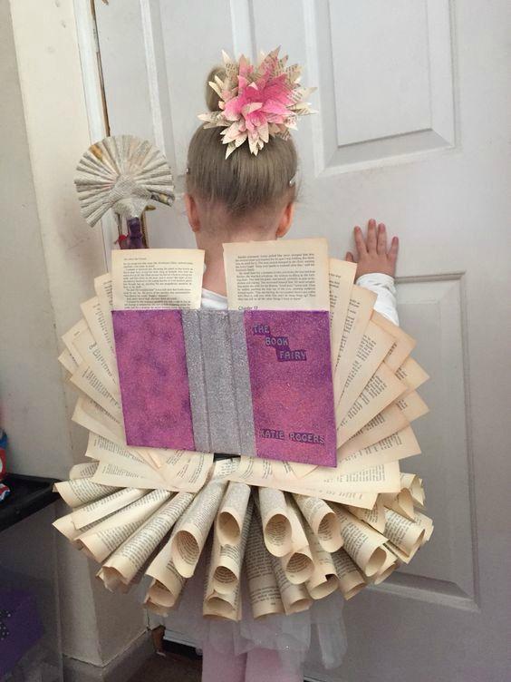 World Book Day Costume Ideas for Kids -Book Fairy world book day DIY kids fun…