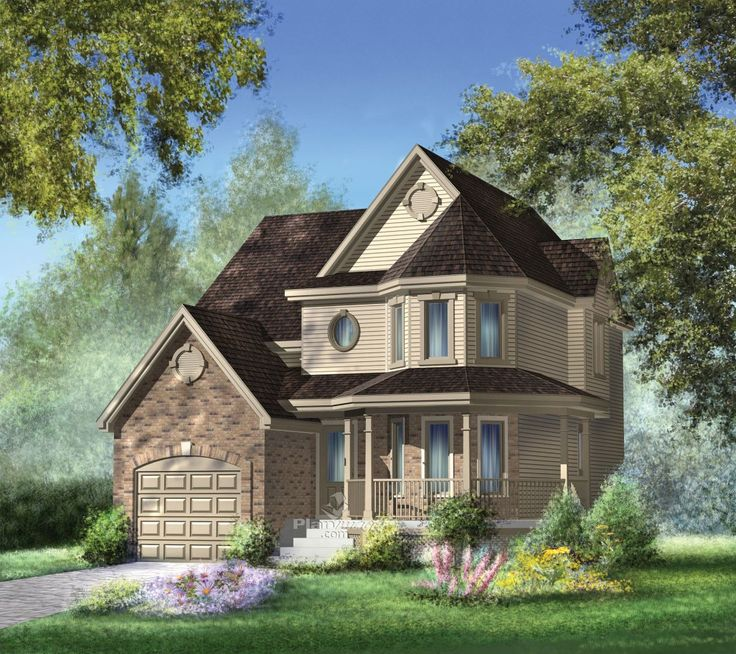 23 best style du0027architecture victorien images on Pinterest - plan maison demi sous sol