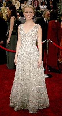 Reese Witherspoon--vintage Christian Dior at the Academy Awards 2006  (Best Oscar gowns - The Washington Post)