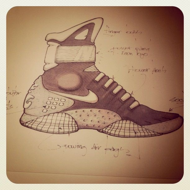 Final sketch of the Nike Air Mag