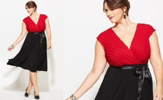 Dresses for Heavier Women  Black and Red New Years Eve Dress for ...