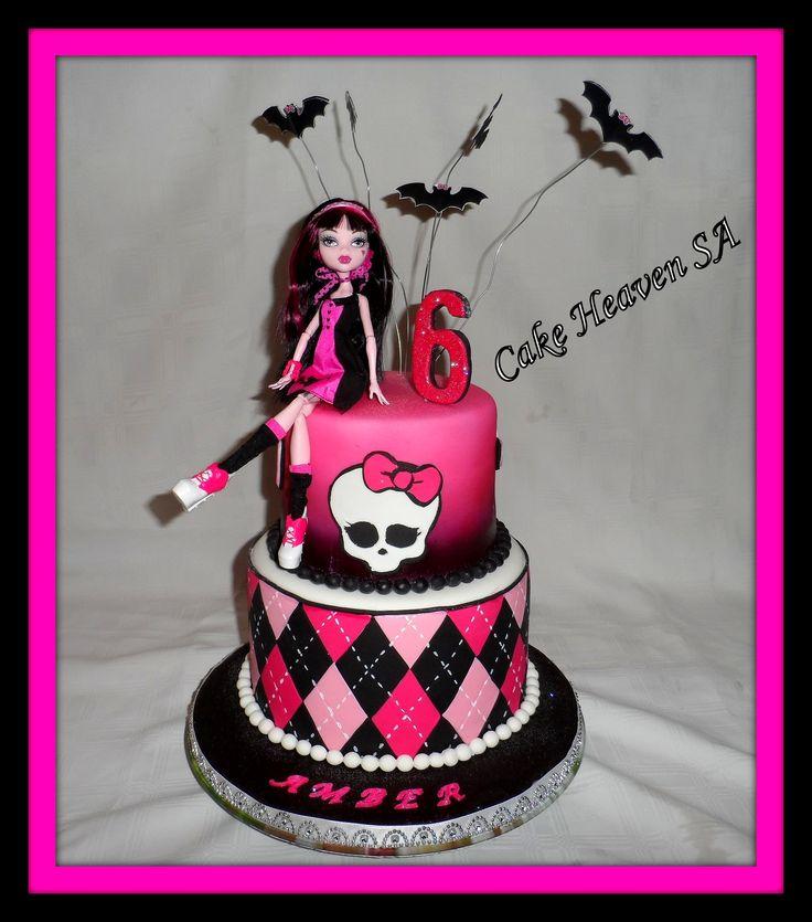 Monster High themed 2 tier.  (Original design is not mine).