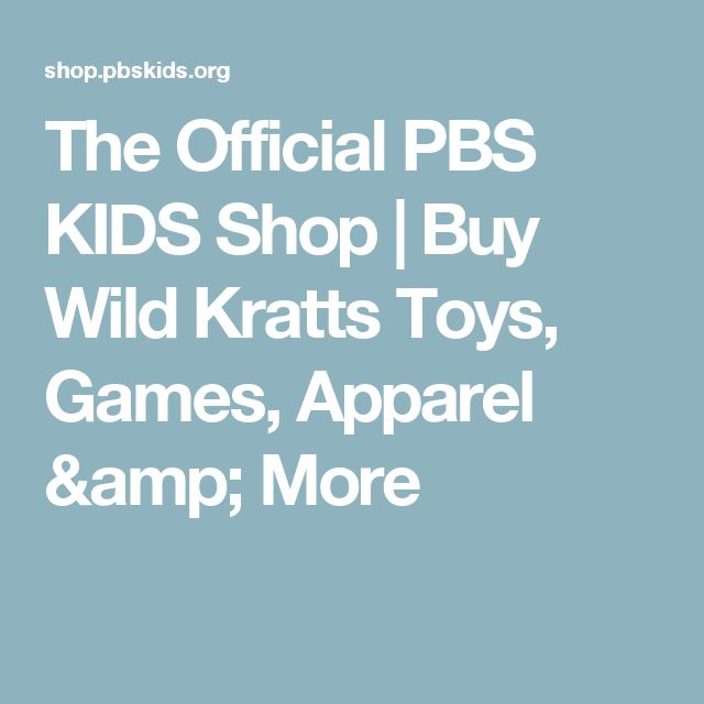 The Official PBS KIDS Shop | Buy Wild Kratts Toys, Games, Apparel & More