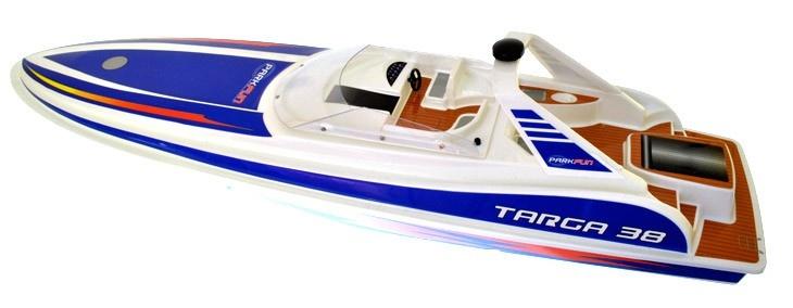 Onze Beste rc boot is de Dynam Rc Targa. Deze boot is voorzien van een goed watergekoelde race-motor, een aparte ESC en van hoge kwaliteit radio versnelling, zoals op een radiografisch bestuurbare auto. Het gebruikt ook een 7,2 V Tamiya soort ras accu geeft meer vermogen en zeer hoge snelheden. U zult in het water en race op volle snelheid in een mum van tijd , omdat de Targa 38 RC boot komt uit de doos Ready For Fun!