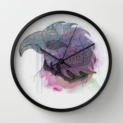 Eagle Flight Wall Clock by clickybird - Belinda Gillies - $30.00